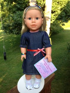 autism awareness -18 inch girl doll - My Sibling - Victoria