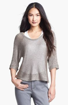 Eileen Fisher chainette top