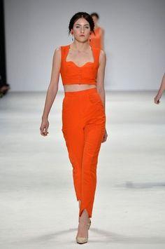 this season: hot colour + a good crop. Fashion trends.