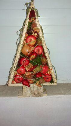 Fruit in wood base