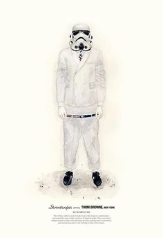 Stormtrooper wears THOM BROWNE.