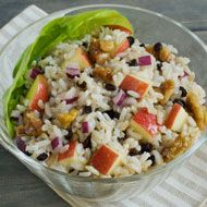 Brown Rice Salad With Apples, Walnuts, And Cherries Recipe ...