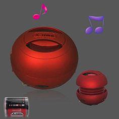 Altavoz portatil rojo #iphone #blogtecnologia #tecnologia