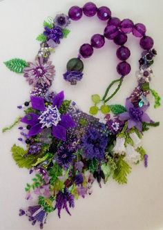 May's Garden Necklace made by Sharon Wagner