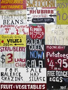 Produce Work - Dick Frizzell Creative Skills, Creative Art, New Zealand Art, Nz Art, Golden Honey, Sign Writing, Kiwiana, Sale Poster, Frame It