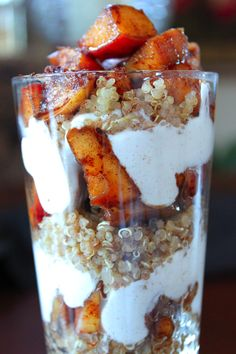 Apple Cinnamon Quinoa breakfast parfait...sounds good enough for desert too!!!