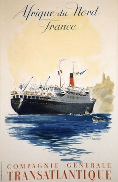History of Vessels Travel Ads - US Lines - Cunard - White Star Travel Ads, Bus Travel, Kunst Poster, Vintage Boats, Old Advertisements, Poster Ads, Air France, Kyoto Japan, Ship Art