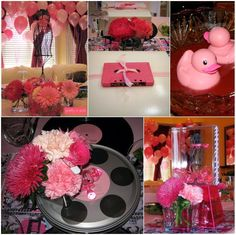 Pretty in Pink 80s Baby Shower via #babyshowerideas4u #babyshowerideas Baby shower ideas for boy or girl