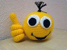 Amigurumi Minion Tarifi : Set of two emoji amigurumi the tongue smiley and by silayayacolors