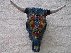 Mix Media: Bull skull - Sold