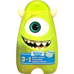 Disney Pixar Monster University Scary Berry/Freaky Fruit 3 in 1 Body Wash, Shampoo & Conditioner, 14 fl oz