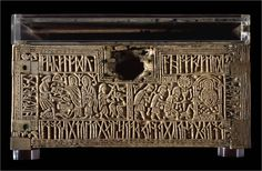 The Franks Casket (Aka Auzon Casket) - Anglo-Saxon whale's bone (not baleen) chest  c.early 8th century,
