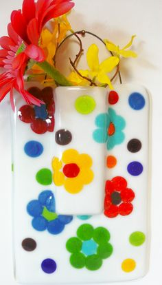 Fused Glass Art, Stained Glass, Lead Light, Glass Fusion Ideas, Glass Fusing Projects, Coat Of Many Colors, Hanging Vases, Wall Pockets, Glass Ball