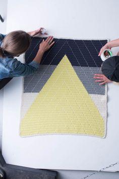 """Crochet Babyblanket """"Bjergtop"""" - pattern in the book """"Lutter Løkker"""" :)"""