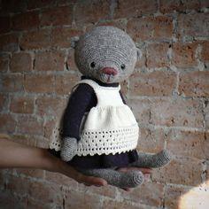 Crochet Bear, Crochet Animals, Crochet Hats, Crochet Teddy, Crochet Toys Patterns, Stuffed Toys Patterns, Bear Toy, Amigurumi Toys, Handmade Toys