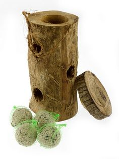 Suet Log bird feeder