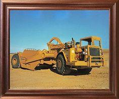 Caterpillar 612B Land Scraper Dozer Truck Mahogany Framed Wall Decor Art Print Picture (18x22) by Impact Posters Gallery, http://www.amazon.com/dp/B01J7Y0IGU/ref=cm_sw_r_pi_dp_x_kVSDzbQR10D9P