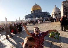 #photography  What a gallery!!  Eid al-Fitr begins: Palestinian children celebrate around the Dome of the Rock at al-Aqsa