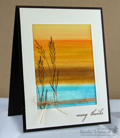 Kendra's Card Company: Blog Hop Day #1: Watercolor Background Tutorial with Gina K & Spectrum Noir!