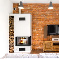 Ściana wykonana za pomocą starej cegły LOFT Interior Design Companies, Apartment Interior Design, Interior Decorating, Brick Fireplace, Brick Wall, Exposed Brick, Home Automation, Design Firms, Wall Design
