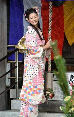 Rika Adachi / Actress. Kimono