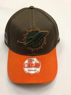 NFL BRAND NEW Miami Dolphins Salute to Service New Era Curved Hat 80b12b390da