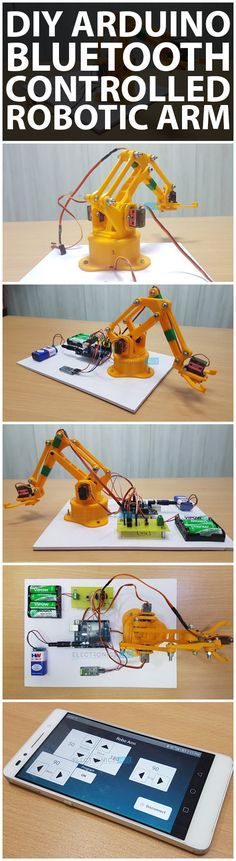 In this project, I'll show you how to build an Arduino & Bluetooth Controlled Robotic Arm using Android Phone. This Robotic Arm can be operated in either manual mode or can be programmable to be operated in Fully Automatic Mode.