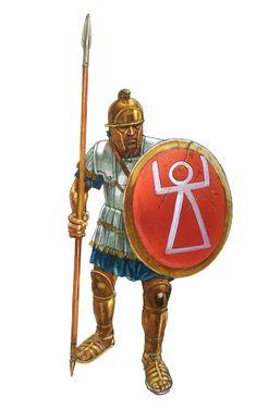 Peter Dennis. Livo-Phoenician infantryman. Punic Wars, Phoenician, Bronze Age, Ancient Greece, North Africa, Roman Empire, Ancient History, Warfare, Medieval