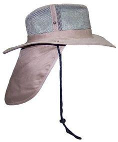 a3da3eb0b184c2 JFH Group Wide Brim Men Safari/Outback Summer Hat With Neck Flap (Extra  Large