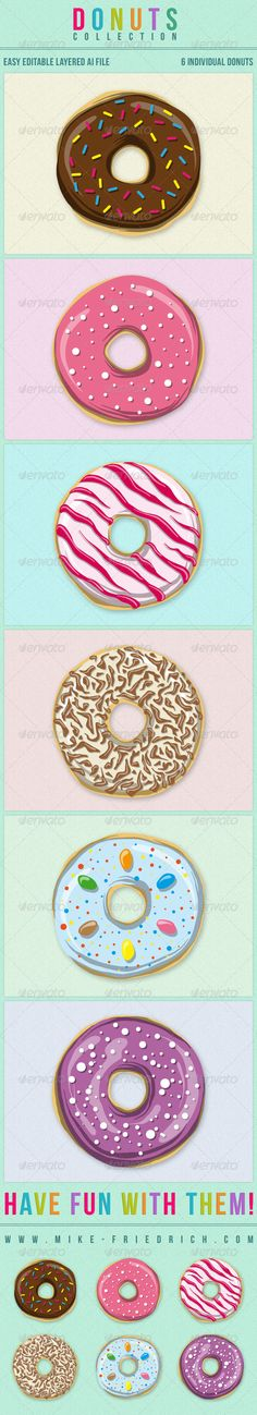 Donuts Collection for 3 USD