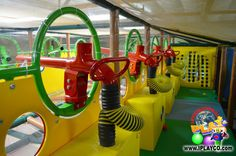 Ballistic Ball Shooters - fun for all ages and great to add to your family entertainment center design.  We design, manufacture and install indoor play areas (jungle gyms) for all types of businesses.  #weBUILDfun #Iplayco #softplay #jungleGYM #Ballistics #BallShooters