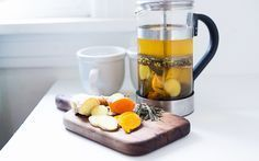 Ayurvedic Turmeric Detox Tea A Daily Drink Feasting At Home - Ayurvedic Detox Tea A Daily Drink With Fresh Turmeric Ginger And Whole Spices To Cleanse And Detox The Body Www Feastingathome Com Detox Recipes, Tea Recipes, Juice Recipes, Coffee Recipes, Breakfast Recipes, Healthy Detox, Healthy Drinks, Detox Foods, Turmeric Detox