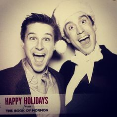 2015 @bookofmormon Holiday Party w Gavin! This guy is my hero. Been the best year ever performing with him.