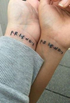 Matching Bestfriend Small Wrist Tattoo Ideas from Friends TV Show - www.MyBodiArt.com #tattoos