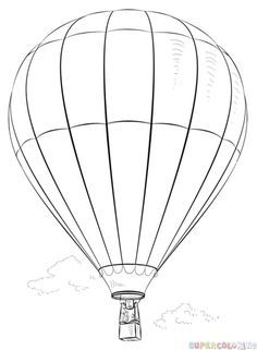 How to draw a Hot Air Balloon | Step by step Drawing tutorials