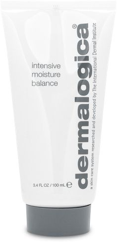 Dermalogica Intensive Moisture Balance. If you're experiencing dry skin, and you're in a place that's windy or experience any mild chapping, this is a great moisturizer. Simple, spiked with botanicals, and a tiny bit of dimethicone to protect the skin. I usually go running far, far away from 'cones in moisturizers, but this one doesn't bother me at all.