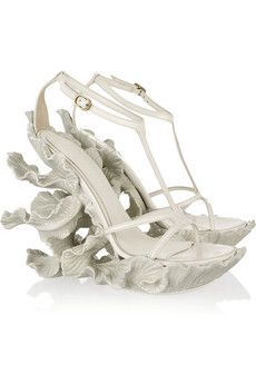 Alexander McQueen  Sculpted resin and leather sandals  $3,495
