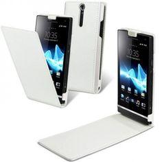 Custodia Pelle Originale Made For Sony Xperia S - Bianco