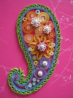 149) Quilled paisley by Christine Donehue.