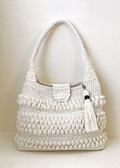 Crochet Purse with Tassel Pattern  Easy Crochet Bag  Crochet