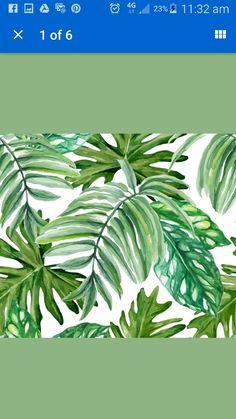Wallpaper Bohemian leaves