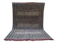 Moroccan Rugs From Morocco - Boucherouite Rug Saddle Blanket, Beni Ourain, Blue Flats, Berber Rug, Kilim Rugs, Blue Area Rugs, Bohemian Rug, Hand Weaving, Carpet