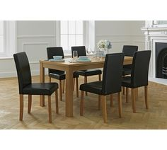 buy collection sedgley ext table & 4 chairs-oak veneer/charcoal at