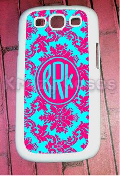 So getting this for my new Galaxy SIII!  Samsung Galaxy S3 Case Pink and terquoise Damask by KrezyCase, $14.95