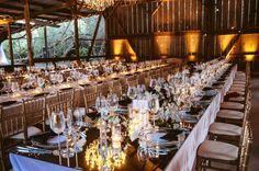 heiraten Scheune Tischdeko Ideen Windlichter