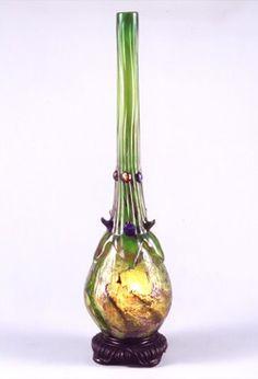 エミール・ガレ〈茄子型ランプ〉