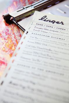 Linger Designed by Jen Chavez. Friendly but also sleek.