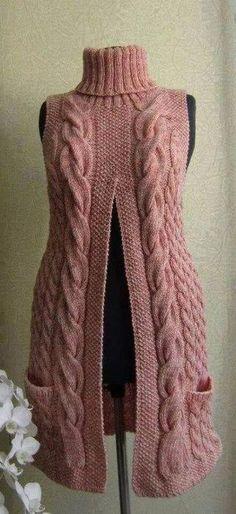 Crochet sweater vest pattern ideas for 2019 Crochet Cardigan Pattern, Vest Pattern, Crochet Shawl, Knitting Patterns, Knit Crochet, Crochet Style, Jumpsuit Pattern, Knitting Projects, Tricot Facile