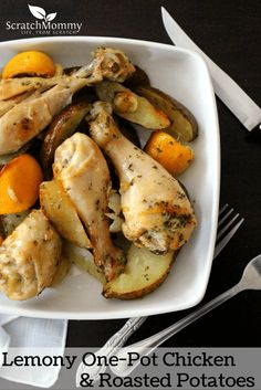 Lemony One-Pot Chicken & Roasted Potato Recipe
