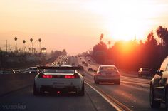 Driving towards the sunset <3